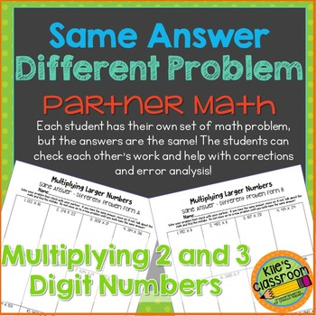 Multiplying Larger Numbers Partner Activity