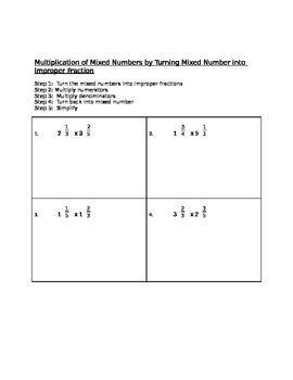 Multiplying Mixed Numbers 2 Ways (Decomposition Model and
