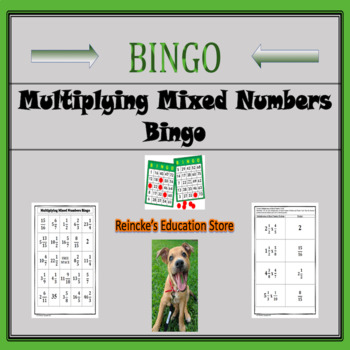 Multiplying Mixed Numbers Bingo (30 pre-made cards!)