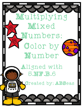 Multiplying Mixed Numbers Color by Number