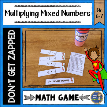 Multiplying Mixed Numbers ZAP Math Game