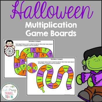 Multiplying Multi-Digit Numbers Game Boards