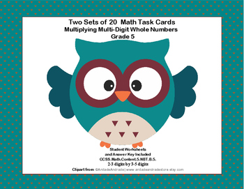 Multiplying Multi-Digit Whole Numbers -Grade 5 CCSS Woodla