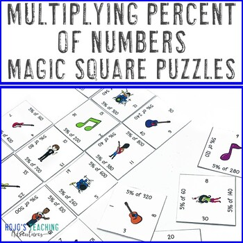 Multiplying Percent of Numbers Math Center Game