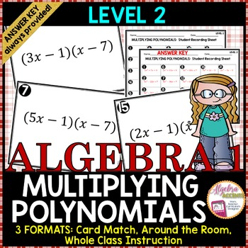 Multiplying Binomials Level 2 Card Match