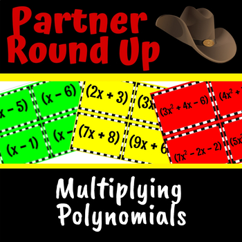 Multiplying Polynomials Partner Round Up