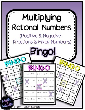 Multiplying Rational Numbers (Positive & Negative Fraction