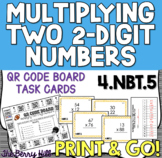 Multiplying Two 2-Digit Numbers - Common Core 4NBT5 - QR Codes