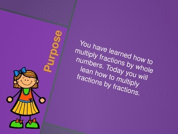 Multiplying Two Fractions (5th Grade EnVision Math Power Point)