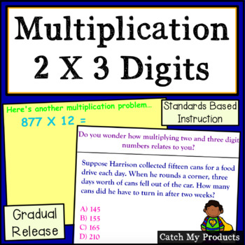 Multiplying Two and Three Digit Numbers for Promethean Board