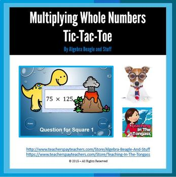 Multiplying Whole Numbers Pre-Historic PowerPoint Tic-Tac-