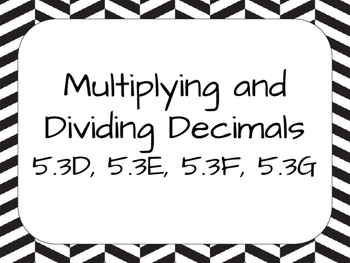 Multiplying and Dividing Decimals