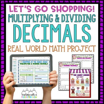 Multiplying and Dividing Decimals Project by Teaching With a ...