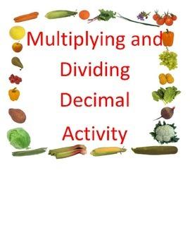 Multiplying and Dividing Decimals/ Unit Rate True and False Sort