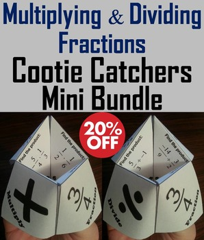 Multiplying and Dividing Fractions Practice Activities 4th