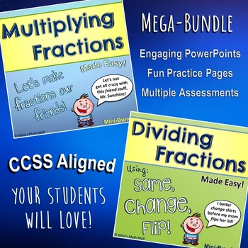 Multiplying and Dividing Fractions Made Easy (Bundled Unit