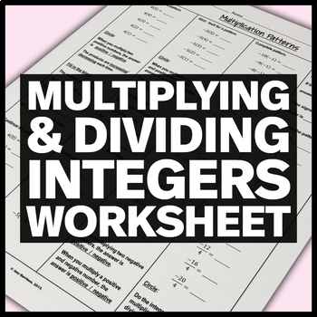 Discover Integer Multiplication and Division Patterns