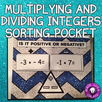 Multiplying and Dividing Integers Sorting Activity