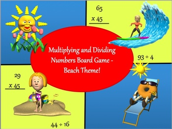 Multiplying and Dividing Numbers Board Game - Beach and Wa