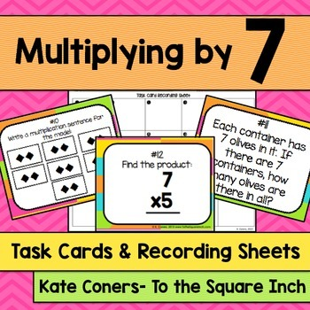 Multiplying by 7 Task Cards
