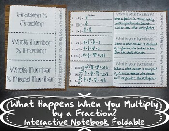 Multiplying by Fractions Hypothesis Booklet INB TEKS 6.3B