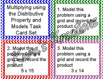 Multiplying using Distributive property & Models