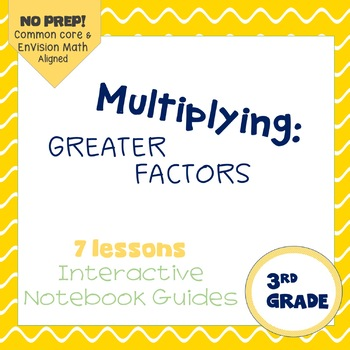 Multiplying with Greater Factors, Interactive Notebook