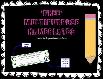 Multipurpose Primary Name Tags / Nameplates