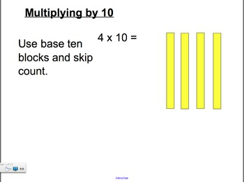 Multipying by 10, 1 and 0