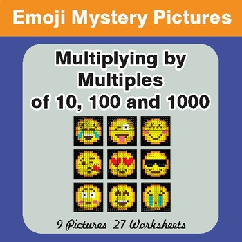 Multipying by Multiples of 10, 100, 1000 Color-By-Number E