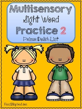 Multisensory Sight Word Practice 2 - Dolch Primer List