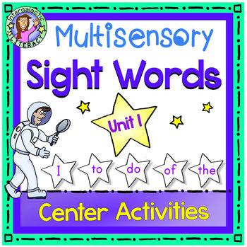 UNIT 1 Multisensory Sight Words - I To Do Of The - Center
