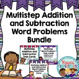 Multistep Addition and Subtraction Word Problem Bundle