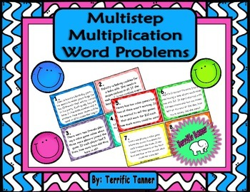 Multistep Multiplication Word Problem Task Cards