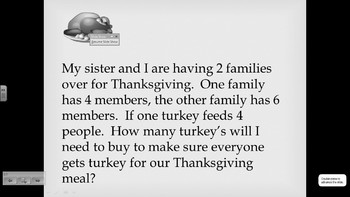 Multistep Thanksgiving Word Problems