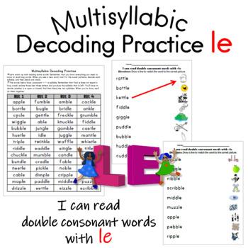 Multisyllabic Decoding Practice -le