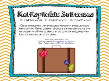 Multisyllabic Suitcases