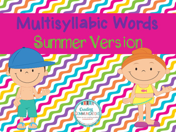 Multisyllabic Words Freebie!