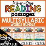 Multisyllabic Words Reading Passages - All-in-One BUNDLE
