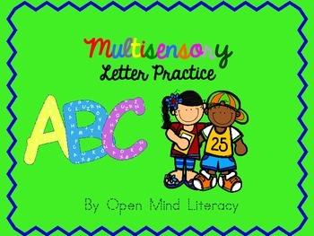 Alphabet/Letter Practice Activities (Multisensory)