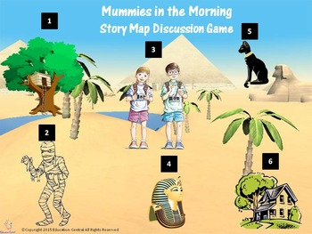 Mummies in the Morning (Book #3) Story Map Discussion Game