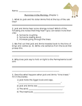 Mummies in the Morning Comprehension Questions
