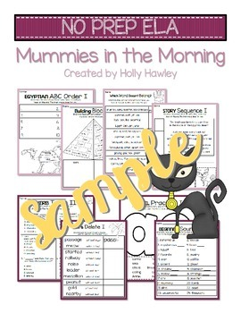 Mummies in the Morning NO PREP (ELA) SAMPLE
