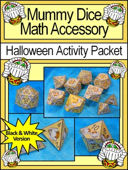 Mummy Activities: Mummy Dice Templates Halloween Math Cent