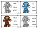 Mummy Color Sight Word Clip Cards