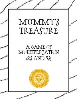 Mummy Treasure: Math Multiplication Board Game (Multiply w