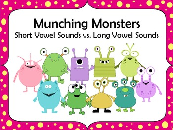 Munching Monsters Notebook - Short Vowel vs. Long Vowel Sounds