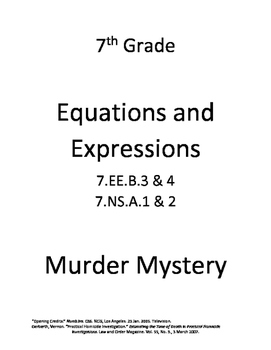 Murder Mystery (with equations)