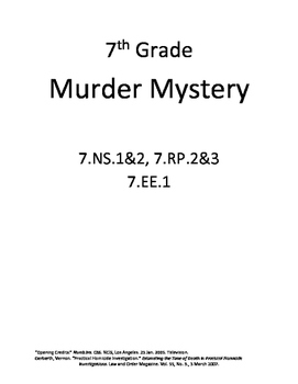 Murder Mystery (with percents)