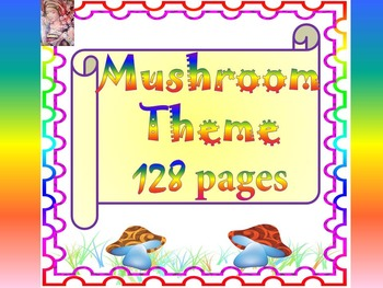 Mushroom Theme - Alphabet- Number - Months - 128 pages